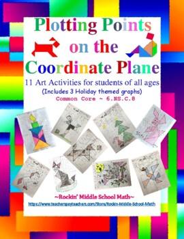Plotting points on the Coordinate Plane Puzzle Art Bundle