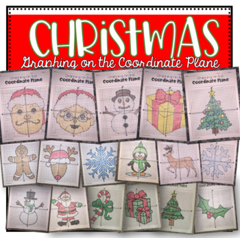 Graphing on the Coordinate Plane (Christmas Bundle)