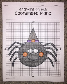 Graphing on the Coordinate Plane (Spider)