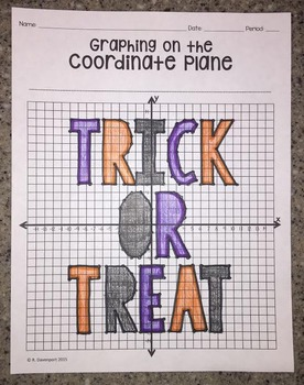 Graphing on the Coordinate Plane (Trick or Treat)