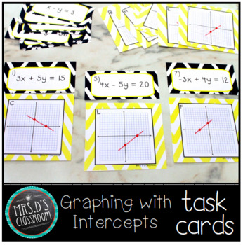 Graphing using intercepts task cards