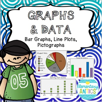 Graphs and Data- Bar Graphs, Line Plots, Pictographs {CCSS