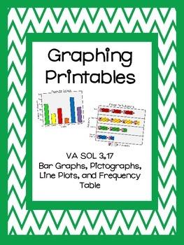 Graphing No Prep Printables - Interpret Data, Create Graph