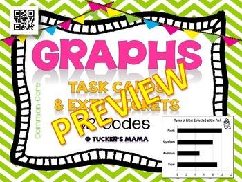 Graphs Task Cards QR