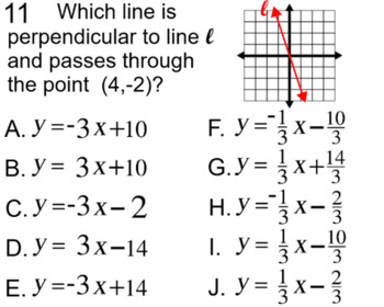 Graphs of Linear Equations, 4 Assignments on Power Point a