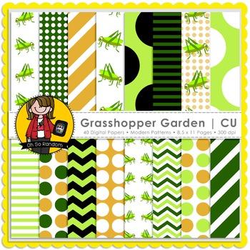 Grasshopper Garden Digital Papers {CU}