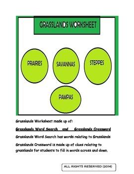 Grasslands Worksheet