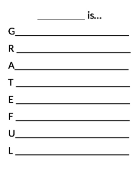 Grateful Acrostic Poem