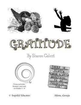 Thanksgiving Gratitude Mini-Unit