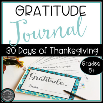 Gratitude Journal 30 Days of Thanksgiving