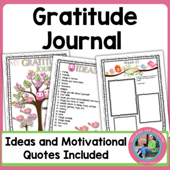 New Year's Gratitude Journal for Kids