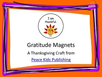 Gratitude Magnet Craft