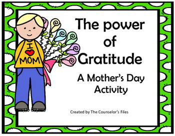 Gratitude Mother's Day  An activity to show you are thankful