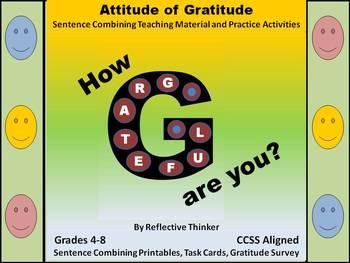 Gratitude Survey, Sentence Combining, & Literacy Center CC