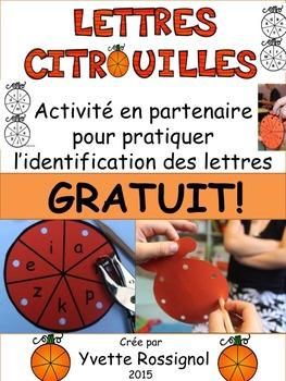 Gratuit! Lettres citrouilles (Freebie, L'Halloween, L'Alph