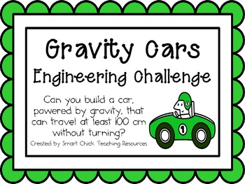 Gravity Cars: Engineering Challenge Project ~ Great STEM A