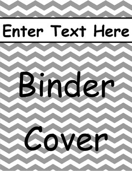 Gray Chevron Binder Cover