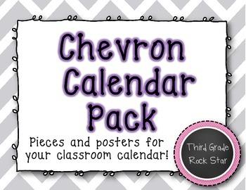 Calendar Pack {Gray Chevron Theme}