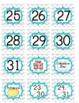 Gray Chevron Classroom Calendar Numbers