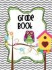 Gray Chevron Owl Teacher Totebook