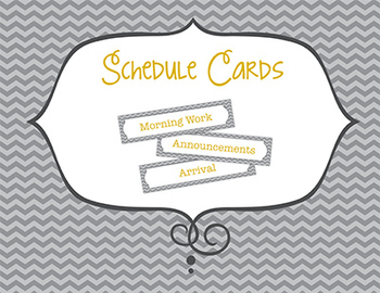 Gray Chevron Schedule Cards