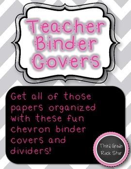 Teacher Binder Covers {Gray Chevron Theme} *Back to School*
