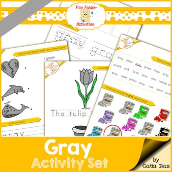 Gray - File Folder Activity Set