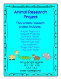 Great Animal Research Project - Grade 3 Common Core Writin
