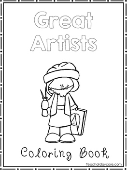 Great Artists Coloring Book worksheets.  Preschool-2nd Grade