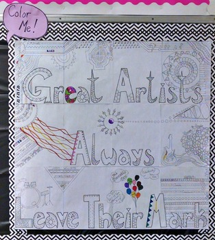 Great Artists Leave Their Mark Bulletin Board
