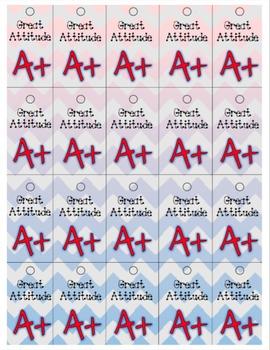 Great Attitude Brag Tag Tags Reward Classroom Management C