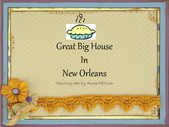 Great Big House in New Orleans PDF with teaching idea for