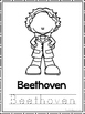 Great Composers Coloring Book worksheets.  Preschool-2nd Grade