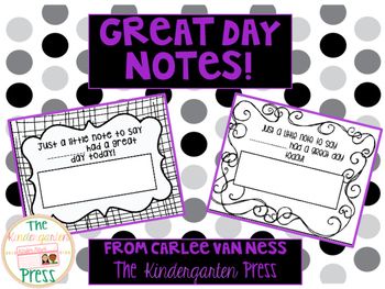 Great Day Notes