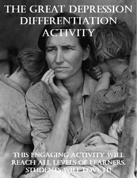 Great Depression Differentiation Activity - Power to the S