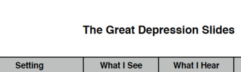 Great Depression Felt Like...