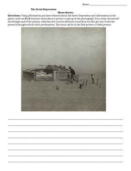Great Depression Photo Stories