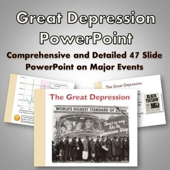 Great Depression - PowerPoint (Dust Bowl, Stock Market, Ne