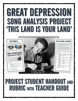 Great Depression - Song Analysis Project with Rubric (This