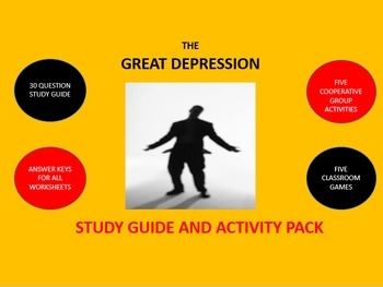 Great Depression: Study Guide and Activity Pack