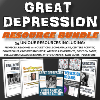 Great Depression - Unit (PPT, Essay, Project, Assignment,