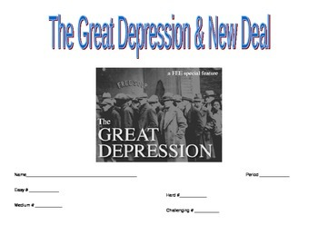 Great Depression and New Deal Unit Activities
