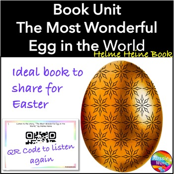 EASTER Reading Center Tasks and QR Code book The Most Wond