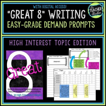 """Great Eight"" Quick Demand Prompt Assessments:  Set 1 ""Hig"