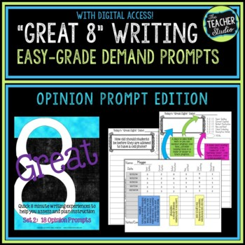 """""""Great Eight"""" Quick Demand Prompt Assessments:  Set 2 """"Opi"""