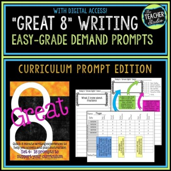 """""""Great Eight"""" Quick Demand Prompt Assessments:  Set 4 """"Cur"""