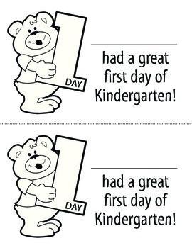 Great First Day Kindergarten