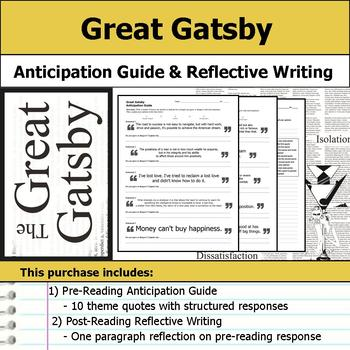 Great Gatsby - Anticipation Guide & Reflection