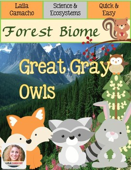 Forest Animals Great Gray Owls