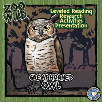 Great Horned Owl -- 10 Resources -- Coloring Pages, Readin